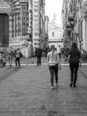 Black and white Genoa Italy — Стоковое фото