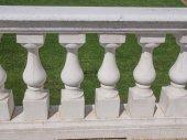 Baroque balustrade — Stock Photo