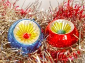 Retro look Christmas decoration — Foto de Stock