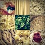 Retro look Italian food collage — Stock Photo #55000185