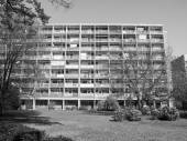 Noir et blanc hansaviertel à berlin — Photo