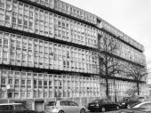 Black and white Robin Hood Gardens London — Stockfoto