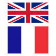 Flag of United Kingdom and France — Stock Photo #56455459