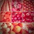 Retro look Red food collage — Stock Photo #56461365