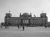 Black and white Reichstag in Berlin — Stock Photo
