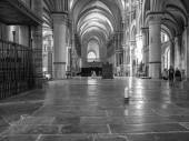 Black and white Canterbury Cathedral — Stock Photo