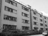 Black and white Siedlung Siemensstadt — Foto Stock