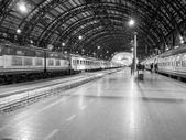 Black and white Stazione Centrale Milan — Stock Photo