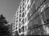 Black and white Hansaviertel in Berlin — Stock Photo