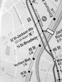 Black and white New York subway map — Stock Photo