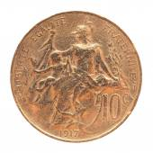 Old French coin — Stock Photo