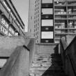 Black and white Trellick Tower in London — Stock Photo #58160413