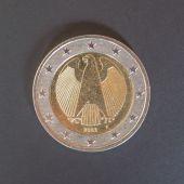 Duitse euromunten — Stockfoto