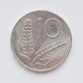 Italiaanse lire munt — Stockfoto