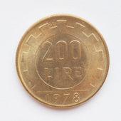 Italian lira coin — Stock Photo