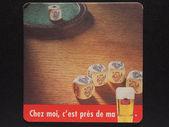 Beermat drink coaster — Stock Photo