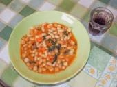Ribollita Tuscan soup — Stock Photo
