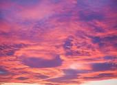 Ciel rouge au coucher du soleil — Photo