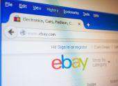 Ebay home page — Stockfoto