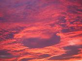 Red sky at sundown — Stock Photo