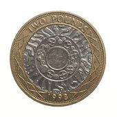 Pound coin - 2 Pounds — Stock Photo
