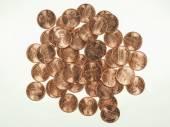 Dollar coins 1 cent wheat penny cent — 图库照片