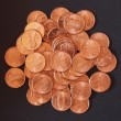 Постер, плакат: Dollar coins 1 cent wheat penny cent