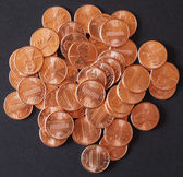 Dollar coins 1 cent wheat penny cent — Stock Photo