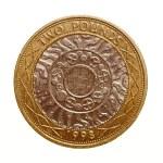 Retro look Pound coin - 2 Pounds — Stock Photo #72486629