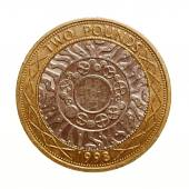 Retro look Pound coin - 2 Pounds — Stock Photo