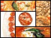 Pizza-collage — Stockfoto