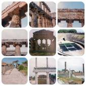 Pompeii and Paestum set — Stock Photo