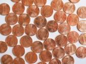 Monete del dollaro 1 centesimo — Foto Stock