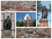 Leipzig landmarks collage — Zdjęcie stockowe