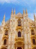 Catedral de Milão look retro — Fotografia Stock