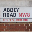 Постер, плакат: Abbey Road sign in London