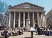 在伦敦的皇家股票交易所。 — 图库照片