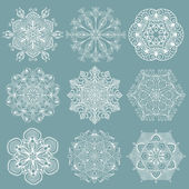Openwork snowflakes — Stock Vector