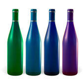 Colored bottles — Stock Vector