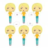 Emotional character — Stock Vector