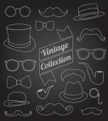 Set of collection vintage fashion elements. vector illustration — 图库矢量图片