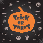 """trick or treat"" halloween background. Vector template for design. — Stock Vector"