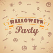 Halloween party background. Vector template for design. — Stock Vector
