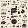 Set of party icons. Vector signs and symbols templates for your design. — Stock Vector #60605213