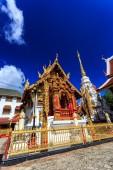 Templet wat klang wiang, chiangrai på solig dag — Stockfoto