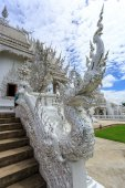 Architectural elements of White Temple - Wat Rong Khun in Chiang — Stock Photo