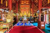 Interiören i wat phra sing tempel i chiang rai, thailand — Stockfoto