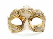 Zlatá benátská maska — Stock fotografie