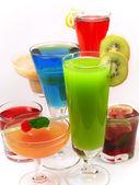 Color cocktails set — Foto Stock