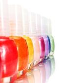 Rainbow of Nail Polish — Stock Photo